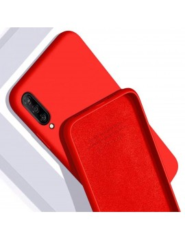 Coque pour SAMSUNG GALAXY A70 Housse Etui Silicone Rigide Rouge