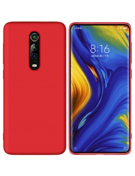 Coque de protection Silicone XIAOMI MI 9T finition Soft Touch ROUGE