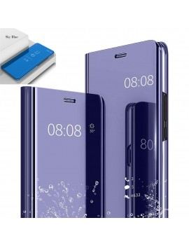 Etui Housse SAMSUNG GALAXY NOTE 10 Clear Miroir Transparent Bleu
